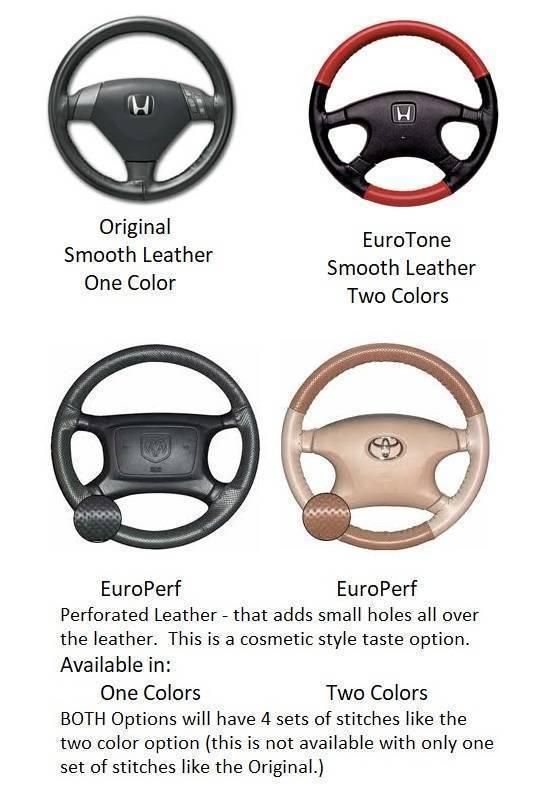 Genuine Cowhide Wheelskins Leather Steering Wheel Covers for GMC Trucks