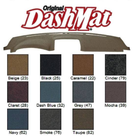 Premium Carpet, Red DashMat Original Dashboard Cover Ford Mustang Covercraft 0124-00-73