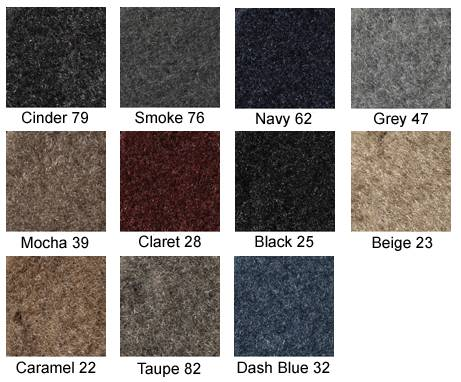 Soft Foss Fibre Carpet Covercraft Custom Fit Dash Cover for Select Land Rover LR4 Models Claret