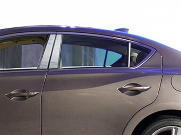 QAA - Acura ILX 2013-2020, 4-door, Sedan (6 piece Stainless Steel Pillar Post Trim ) PP13206 QAA