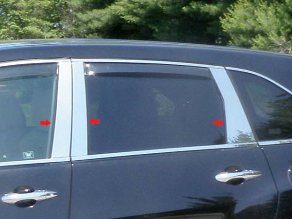 QAA - Acura MDX 2007-2013, 4-door, SUV (6 piece Stainless Steel Pillar Post Trim ) PP27298 QAA