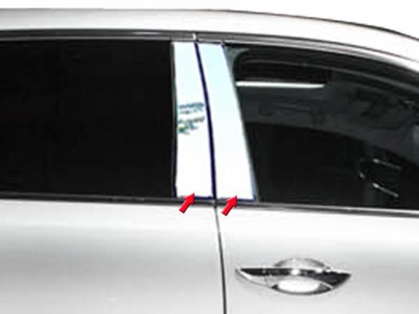QAA - Acura MDX 2014-2020, 4-door, SUV (4 piece Stainless Steel Pillar Post Trim ) PP14297 QAA