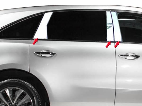 QAA - Acura MDX 2014-2020, 4-door, SUV (6 piece Stainless Steel Pillar Post Trim ) PP14298 QAA
