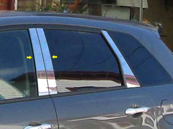 QAA - Acura RDX 2007-2012, 4-door, SUV (4 piece Stainless Steel Pillar Post Trim ) PP27270 QAA