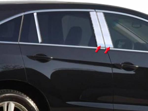 QAA - Acura RDX 2013-2018, 4-door, SUV (4 piece Stainless Steel Pillar Post Trim ) PP13270 QAA