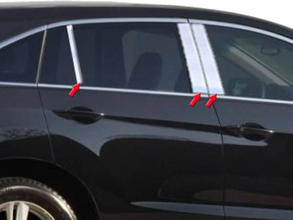 QAA - Acura RDX 2013-2018, 4-door, SUV (6 piece Stainless Steel Pillar Post Trim ) PP13271 QAA