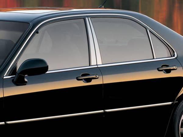 QAA - Acura RL 1996-2001, 4-door, Sedan (6 piece Stainless Steel Pillar Post Trim ) PP20201 QAA