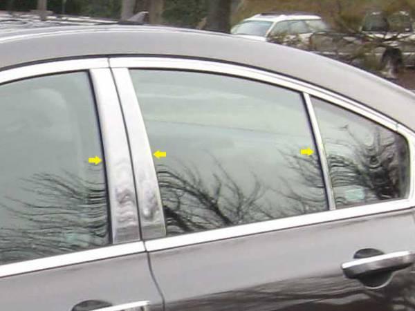 QAA - Acura TL 2009-2014, 4-door, Sedan (6 piece Stainless Steel Pillar Post Trim ) PP29296 QAA