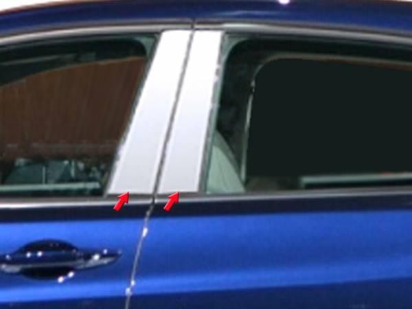 QAA - Acura TLX 2015-2020, 4-door, Sedan (4 piece Stainless Steel Pillar Post Trim ) PP15295 QAA