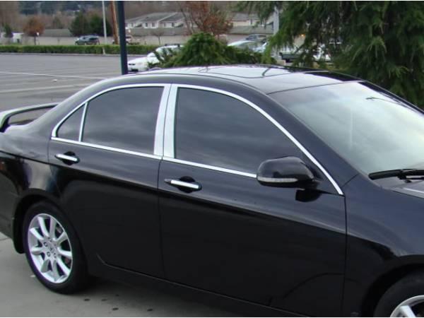 QAA - Acura TSX 2004-2008, 4-door, Sedan (4 piece Stainless Steel Pillar Post Trim ) PP26290 QAA