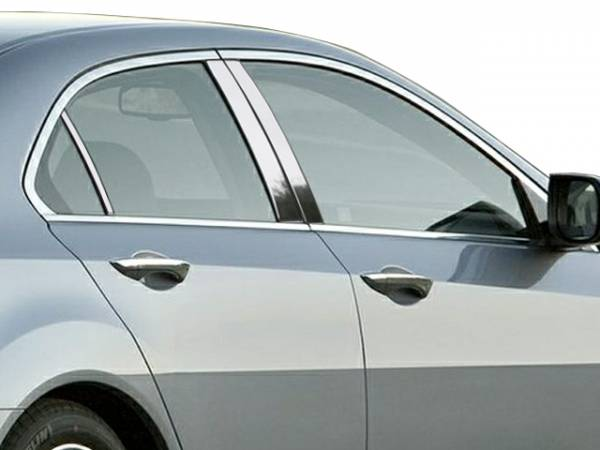 QAA - Acura TSX 2009-2014, 4-door, Sedan (6 piece Stainless Steel Pillar Post Trim ) PP29291 QAA