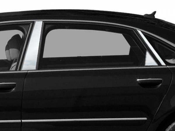QAA - Audi A8 2004-2010, 4-door, Sedan (6 piece Stainless Steel Pillar Post Trim ) PP24621 QAA