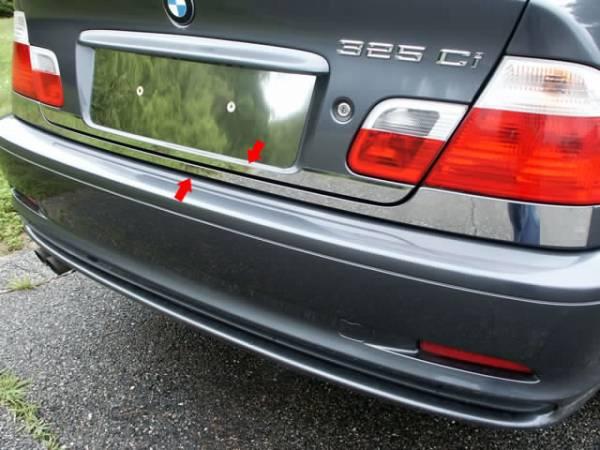 "QAA - BMW 3 Series 2001-2005, 2-door, 325Ci coupe (2 piece Stainless Steel Rear Deck Trim, Trunk Lid Accent 2.5"" Width ) RD25900 QAA"