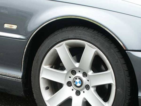 QAA - BMW 3 Series 2001-2005, 2-door, 325Ci coupe (4 piece Stainless Steel Wheel Well Accent Trim cut to fit with Rocker kit sold separately With 3M adhesive installation and black rubber gasket edging.) WQ25901 QAA