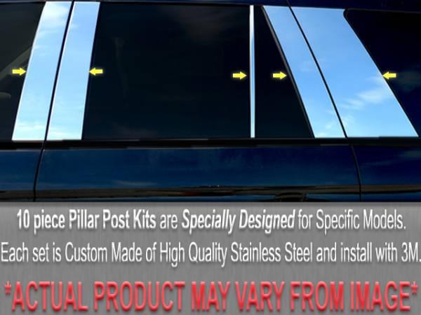 QAA - BMW 3 Series 2002-2005, 4-door, Wagon (10 piece Stainless Steel Pillar Post Trim ) PP25909 QAA