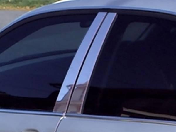 QAA - BMW 3 Series 2006-2012, 4-door, Sedan (4 piece Stainless Steel Pillar Post Trim ) PP26905 QAA