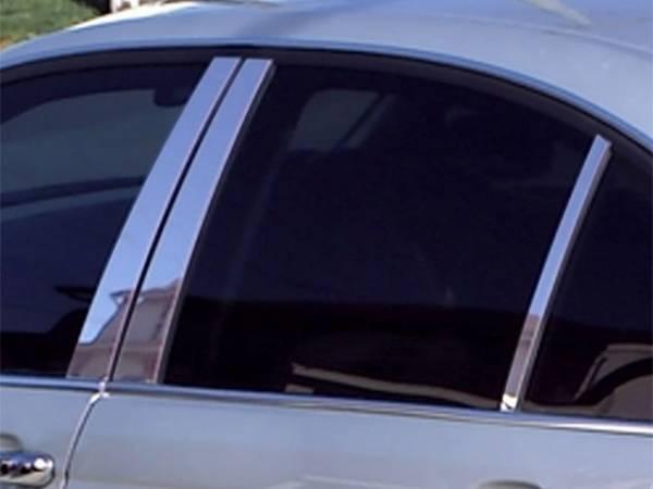 QAA - BMW 3 Series 2006-2012, 4-door, Sedan (6 piece Stainless Steel Pillar Post Trim ) PP26906 QAA