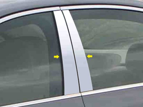 QAA - BMW 5 Series 2004-2010, 4-door, Sedan (4 piece Stainless Steel Pillar Post Trim ) PP25930 QAA