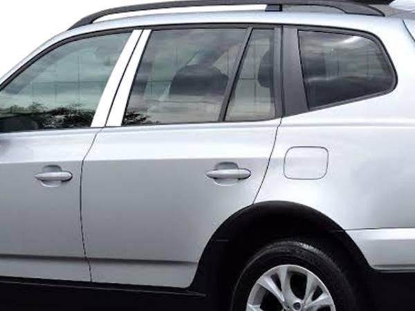 QAA - BMW X3 2004-2010, 4-door, SUV (4 piece Stainless Steel Pillar Post Trim ) PP25940 QAA