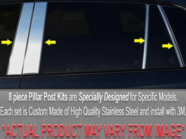 QAA - BMW X5 2000-2006, 4-door, SUV (8 piece Stainless Steel Pillar Post Trim ) PP25951 QAA