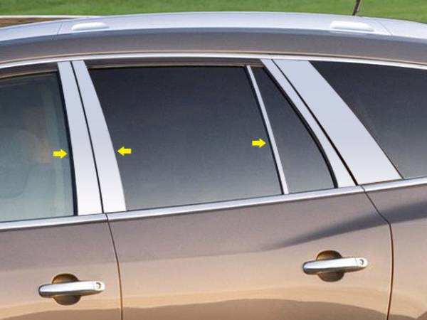 QAA - Buick Enclave 2008-2017, 4-door, SUV (6 piece Stainless Steel Pillar Post Trim ) PP48531 QAA
