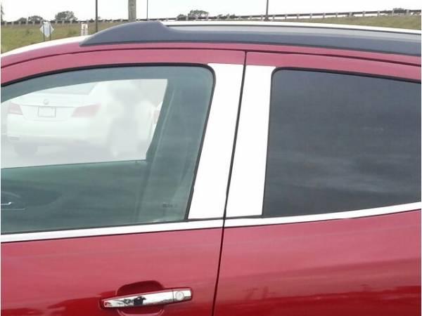 QAA - Buick Encore 2013-2019, 4-door, SUV (4 piece Stainless Steel Pillar Post Trim ) PP53560 QAA