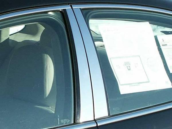 QAA - Buick LaCrosse 2005-2009, 4-door, Sedan (4 piece Stainless Steel Pillar Post Trim ) PP45520 QAA