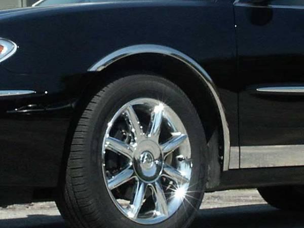 QAA - Buick LaCrosse 2005-2009, 4-door, Sedan (4 piece Molded Stainless Steel Wheel Well Fender Trim Molding Clip on or screw in installation, Lock Tab and screws, hardware included.) WZ45520 QAA
