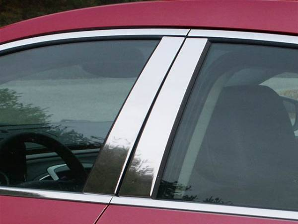 QAA - Buick LaCrosse 2010-2016, 4-door, Sedan (4 piece Stainless Steel Pillar Post Trim ) PP50520 QAA