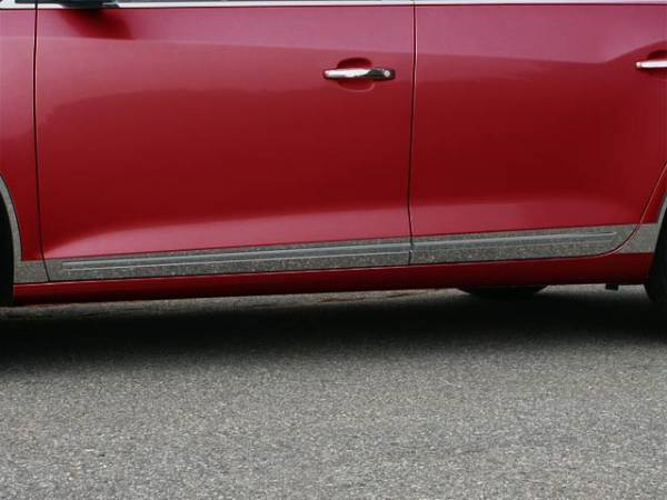 "QAA - Buick LaCrosse 2010-2016, 4-door, Sedan (8 piece Stainless Steel Rocker Panel Trim, Lower Kit 2.375"" - 3 0.75"" tapered Width, with Cut Out for factory trim Spans from the bottom of the door UP to the specified width.) TH50521 QAA"