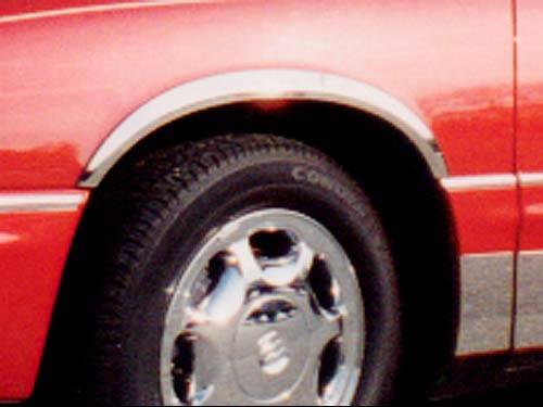 QAA - Buick Park Avenue 1997-2005, 4-door, Sedan (6 piece Molded Stainless Steel Wheel Well Fender Trim Molding Clip on or screw in installation, Lock Tab and screws, hardware included.) WZ37580 QAA