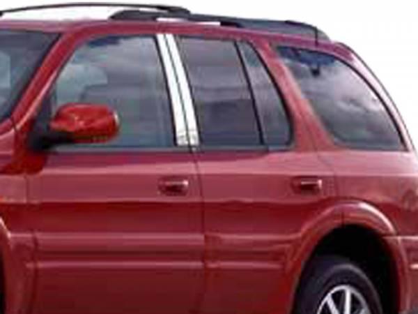 QAA - Buick Rainier 2005-2007, 4-door, SUV (4 piece Stainless Steel Pillar Post Trim ) PP44520 QAA
