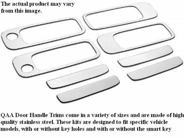 QAA - Buick Regal 1998-2005, 4-door, Sedan (8 piece Stainless Steel Door Handle Accent Trim Includes surround trim and Includes passenger key access ) DH38576 QAA
