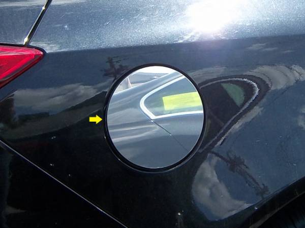 QAA - Buick Regal 2011-2017, 4-door, Sedan (1 piece Stainless Steel Gas Door Cover Trim Warning: This is NOT a replacement cap. You MUST have existing gas door to install this piece ) GC51575 QAA