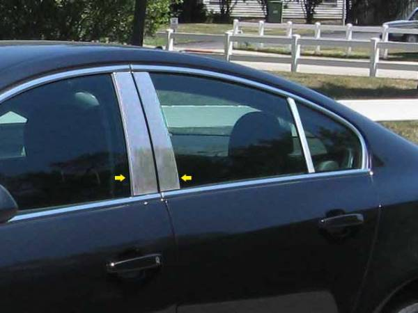 QAA - Buick Regal 2011-2017, 4-door, Sedan (4 piece Stainless Steel Pillar Post Trim ) PP51575 QAA