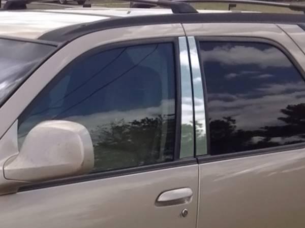 QAA - Buick Rendezvous 2002-2008, 4-door, SUV (4 piece Stainless Steel Pillar Post Trim ) PP42510 QAA