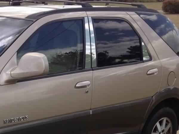 QAA - Buick Rendezvous 2002-2008, 4-door, SUV (6 piece Stainless Steel Pillar Post Trim ) PP42511 QAA