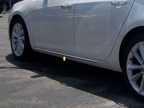 """QAA - Buick Verano 2012-2017, 4-door, Sedan (2 piece Stainless Steel Rocker Panel Trim, On the rocker 1.25"""" Width Installs below the door.) TH52541 QAA"""