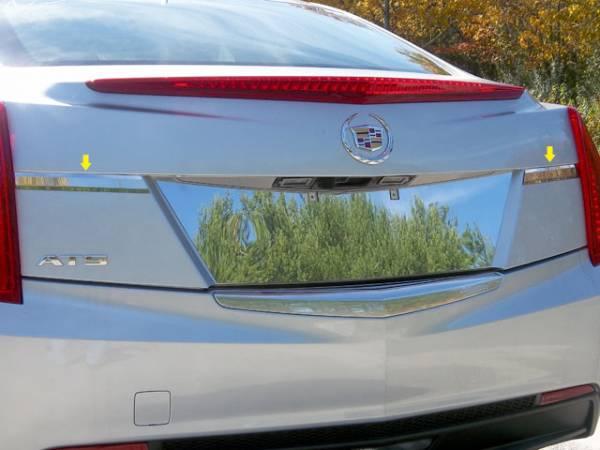 QAA - Cadillac ATS 2013-2018, 4-door, Sedan (2 piece Stainless Steel License Bar Extension Trim ) LB53235 QAA