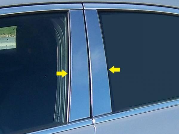 QAA - Cadillac ATS 2013-2018, 4-door, Sedan (4 piece Stainless Steel Pillar Post Trim ) PP53235 QAA