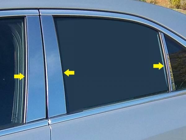 QAA - Cadillac ATS 2013-2018, 4-door, Sedan (6 piece Stainless Steel Pillar Post Trim ) PP53236 QAA