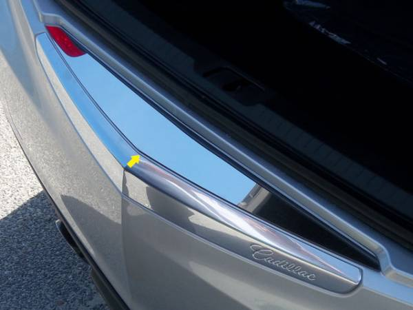 QAA - Cadillac ATS 2013-2018, 4-door, Sedan (1 piece Stainless Steel Rear Bumper Trim Accent ) RB53235 QAA