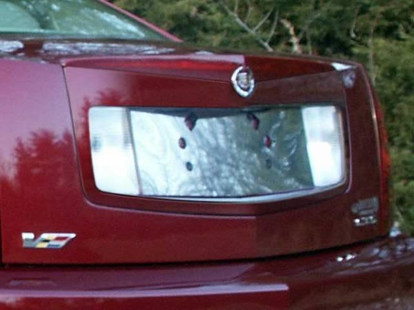 QAA - Cadillac CTS 2005-2007, 4-door, Sedan (1 piece Stainless Steel License Plate Bezel ) LP45250 QAA
