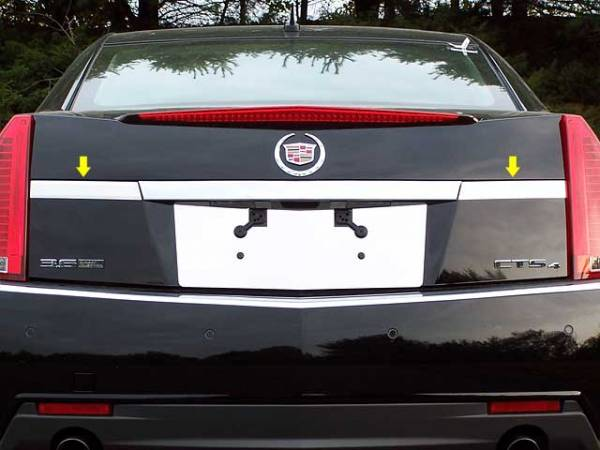 QAA - Cadillac CTS 2008-2013, 4-door, Sedan (2 piece Stainless Steel License Bar Extension Trim ) LB48250 QAA