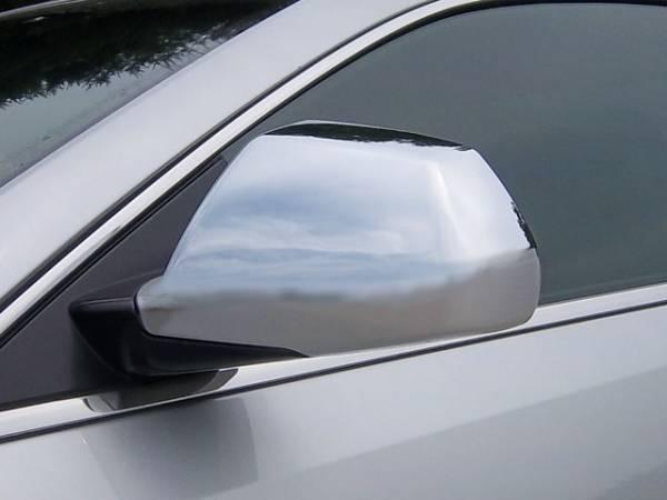 QAA - Cadillac CTS 2008-2013, 4-door, Sedan (2 piece Chrome Plated ABS plastic Mirror Cover Set ) MC48251 QAA