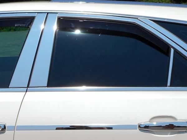 QAA - Cadillac CTS 2008-2013, 4-door, Sedan (6 piece Stainless Steel Pillar Post Trim ) PP48251 QAA
