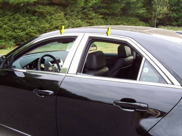 QAA - Cadillac CTS 2008-2013, 4-door, Sedan (4 piece Stainless Steel Window Trim Package Includes Upper Trim only, NO Pillar Posts, NO window sills. ) WP48252 QAA