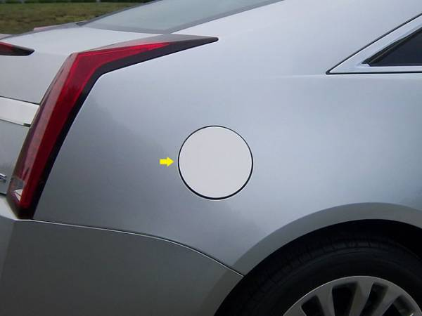 QAA - Cadillac CTS Coupe 2011-2014, 2-door, Coupe (1 piece Stainless Steel Gas Door Cover Trim Warning: This is NOT a replacement cap. You MUST have existing gas door to install this piece ) GC50254 QAA