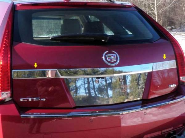 QAA - Cadillac CTS Sport Wagon 2010-2014, 4-door, Sport Wagon (2 piece Stainless Steel License Bar Extension Trim ) LB50251 QAA