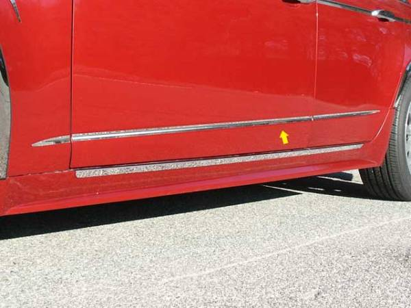 "QAA - Cadillac CTS Sport Wagon 2010-2014, 4-door, Sport Wagon (6 piece Stainless Steel Body Molding Insert Trim Kit 0.6875"" Width ) MI48250 QAA"